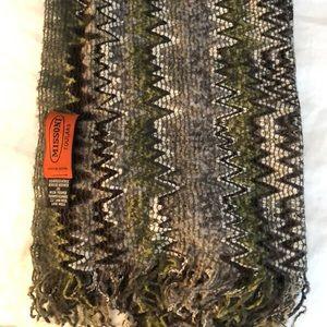 Missoni Classic Zig Zag Green/Grey wool Scarf
